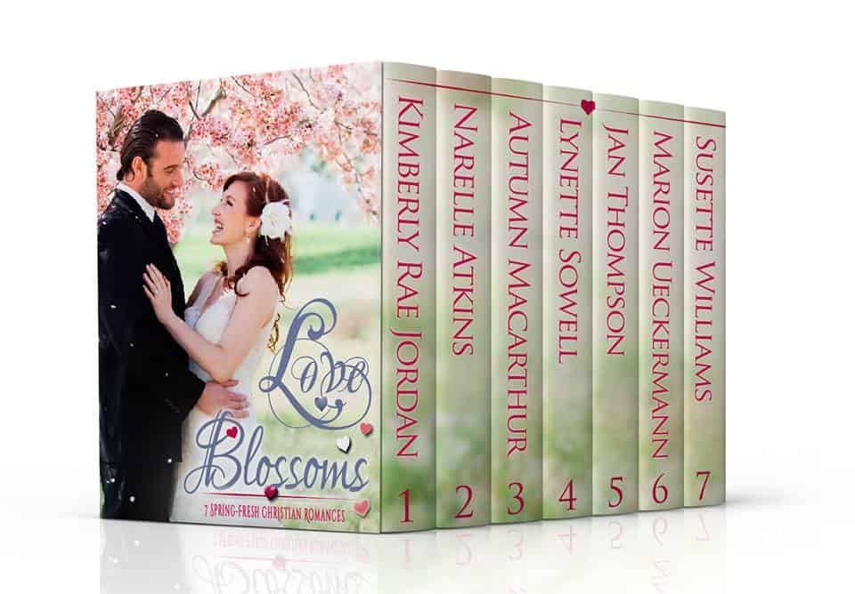 Cover image for springtime Christian romance anthology Love Blossoms