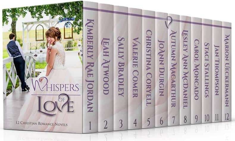 Cover image for 12 author sweet Christian romance anthology Whispers of Love