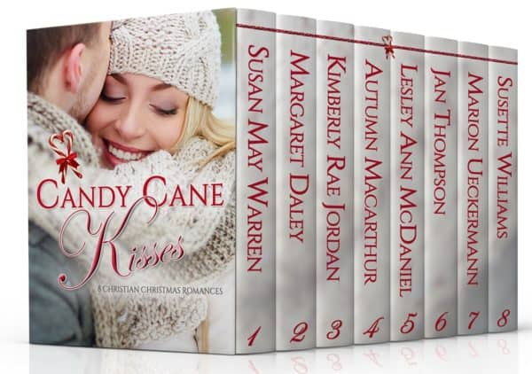 Boxed set cover image for Christmas 2016 Christian romance boxed set Candy Cane Kisses