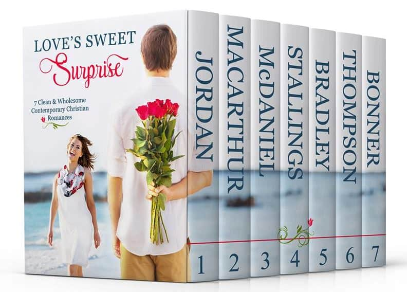 Cover image for Love's Sweet Surprise, 7 author Christian romance boxed set
