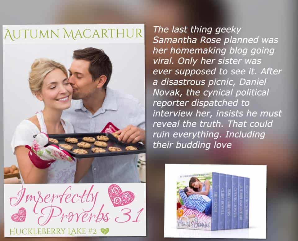 Cover and about the book for Imperfectly Proverbs 31, new Christian romance in trhe Picnics & Promises 99c boxed set