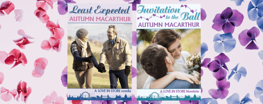 Image of covers for two free Christian romance ebooks by Autumn Macarthur