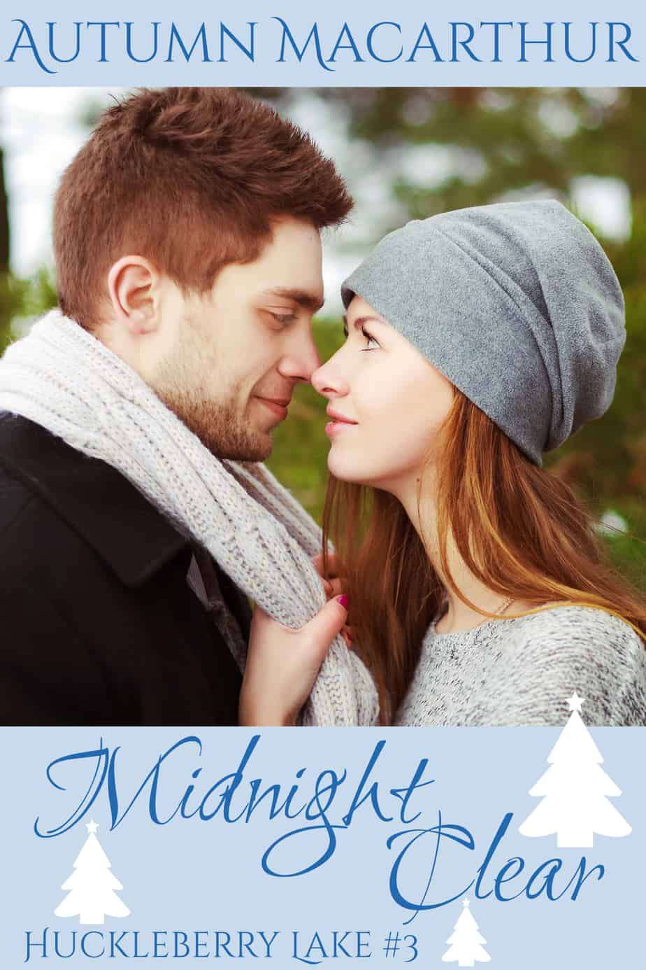Cover image for sweet and clean Idaho set Christmas romance novella, Midnight Clear, by Christian author Autumn Macarthur