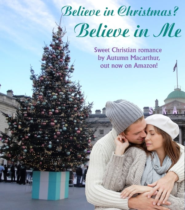Image of couple outside Somerset House in London for inpsirational romance Believe in Me by Autumn Macarthur