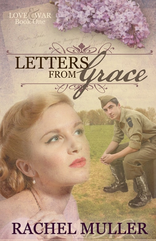 Cover image for World War 2 romance Letters from Grace by Rachel Muller