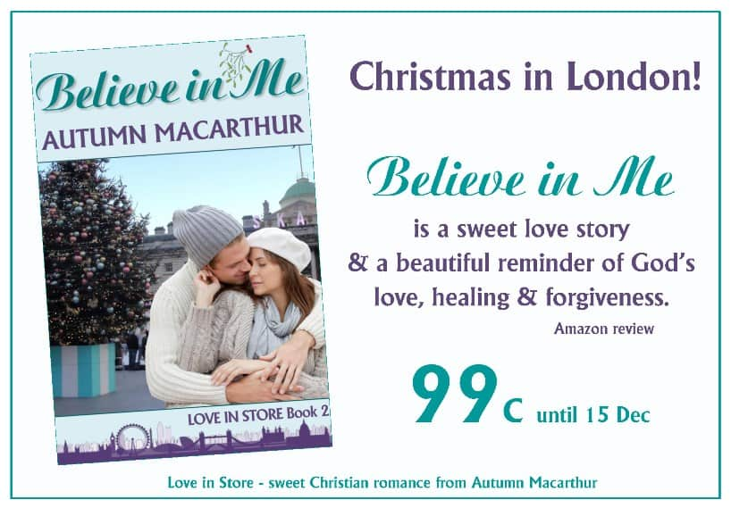 Promotion for sweet Christian romance Believe in Me, 99c on Kindle