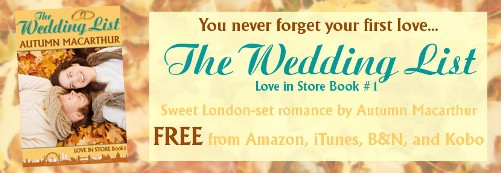 Image for The Wedding List sweet Christian romance free on Amazon, Nook, Kobo