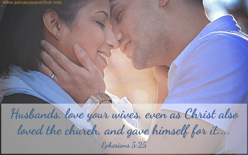 Image of man and woman in love, with BIble verse, from Christian romance author Autumn Macarthur