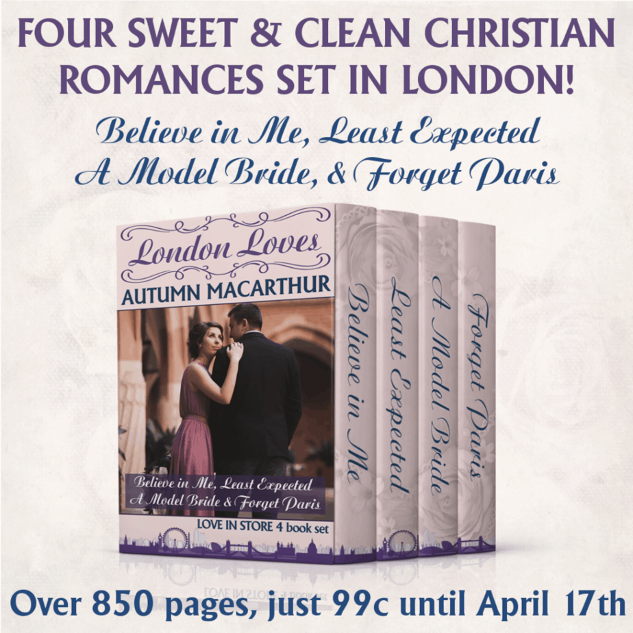 Image for 99c launch week special for London Loves, a four book set of clean Christian romances from the Love in Store series