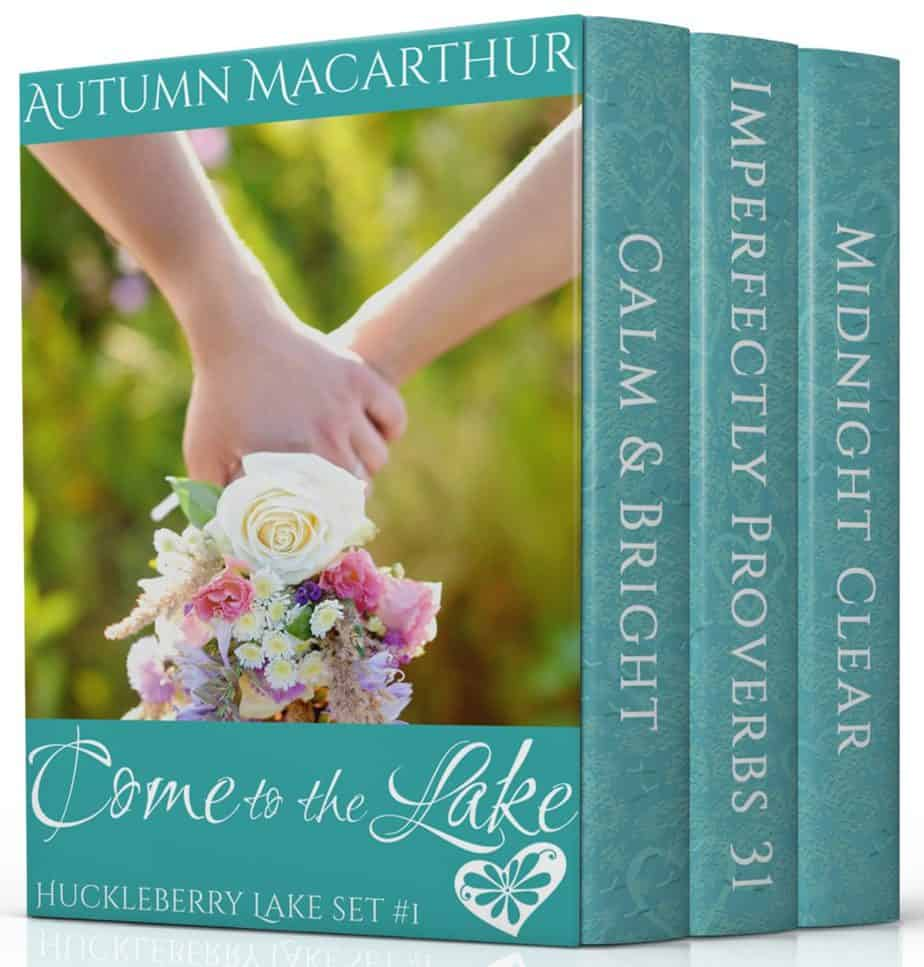 Cover image for Come to the Lake, a three-book set in the Huckleberry Lake sweet Christian romance series by Autumn Macarthur