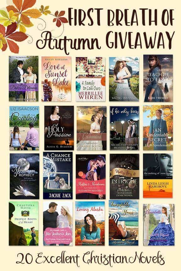 Cover images of books included in big fall Christian fiction paperback bundle giveaway!