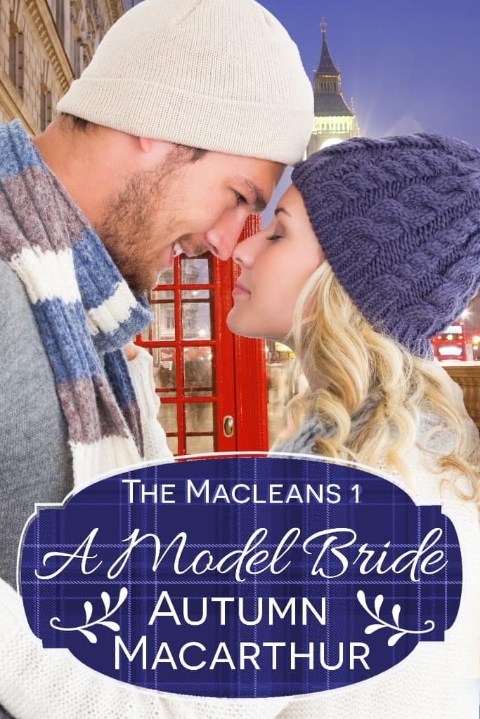 Cover image for sweet inspirational romance A Model Bride by Autumn Macarthur