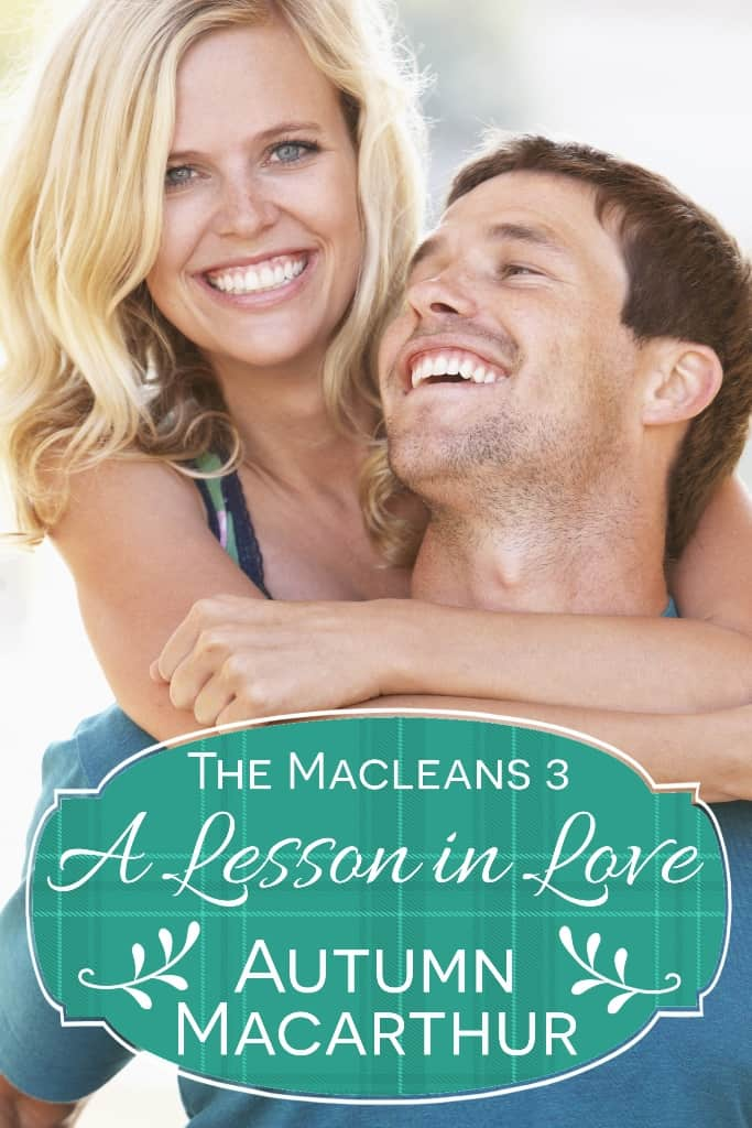 Cover image for Scottish sweet inspirational romance A Lesson in Love by Autumn Macarthur