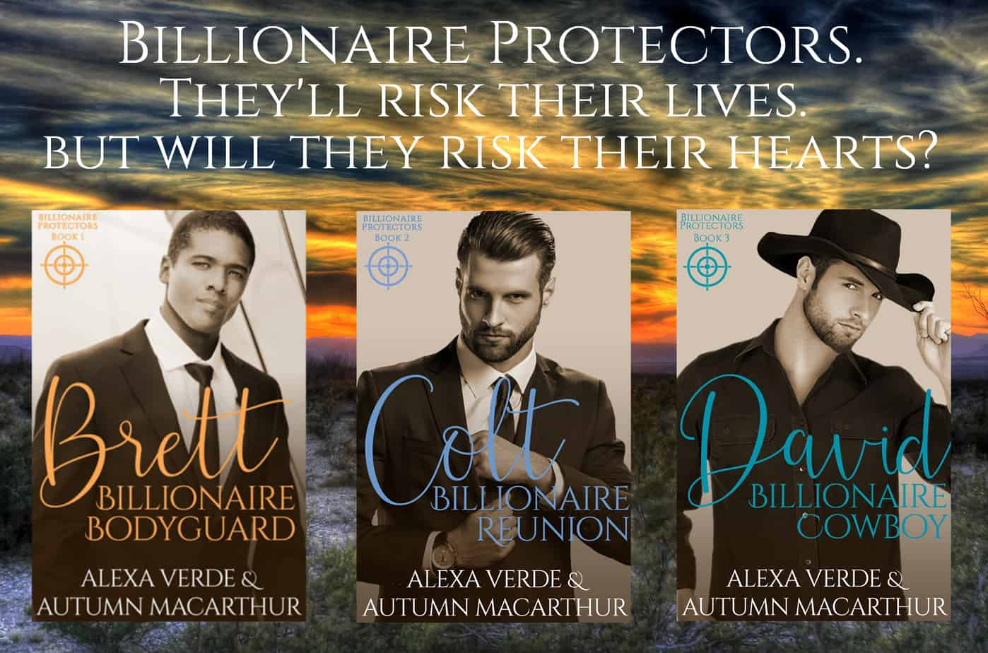 Covers for Billionaire Protectors Christian romance with suspense trilogy