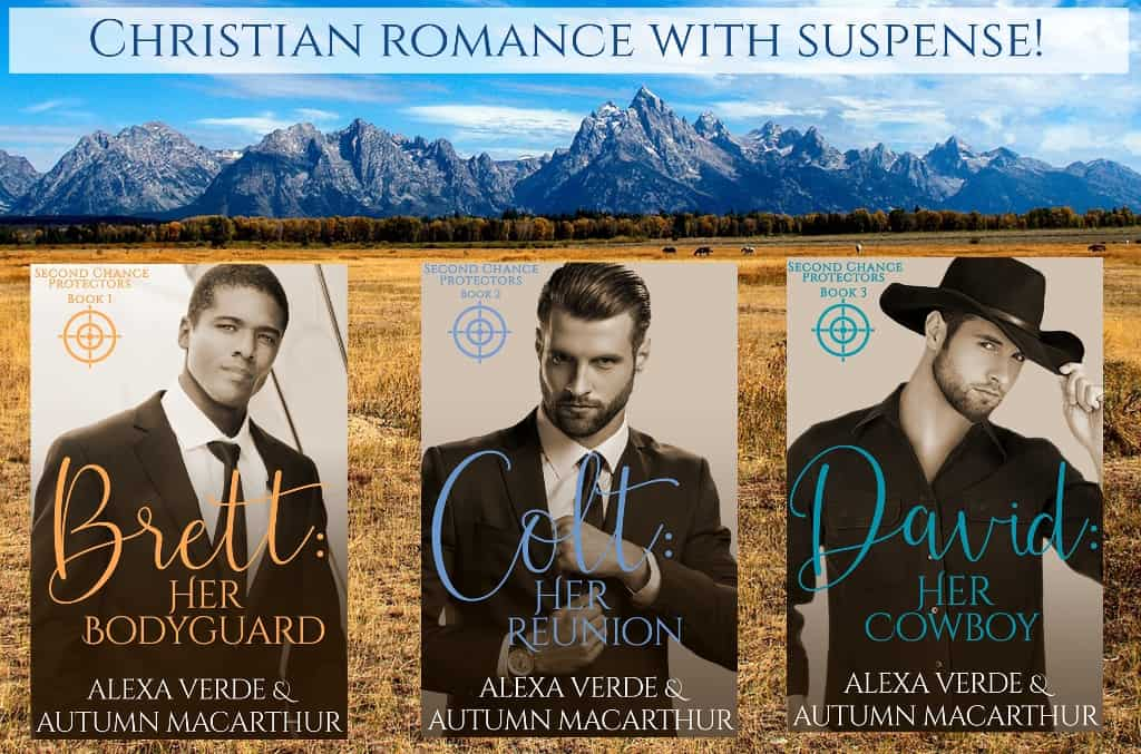 Covers for Second Chance Protectors Christian romance with suspense trilogy