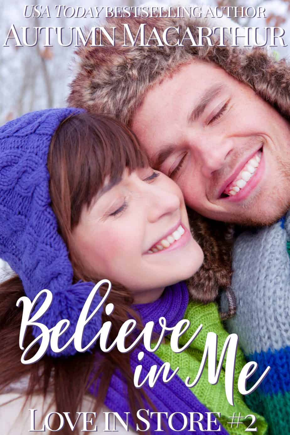 Cover image for London Christmas sweet inspirational romance Believe In Me by Autumn Macarthur