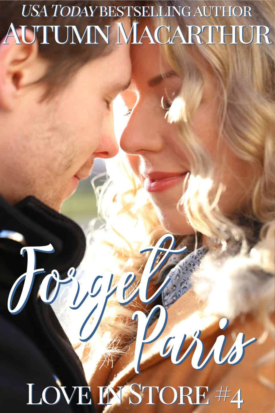 Cover image for London Christmas sweet inspirational romance Forget Paris by Autumn Macarthur