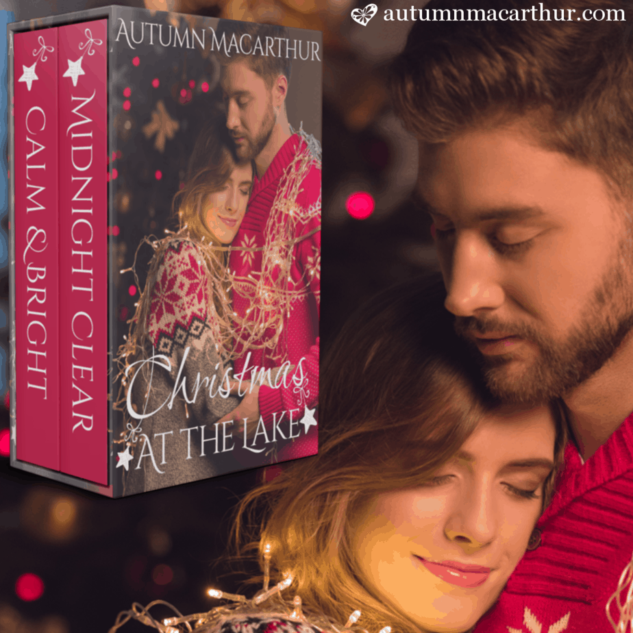 Cover image for Christmas at the Lake, a sweet two-book Christian romance set