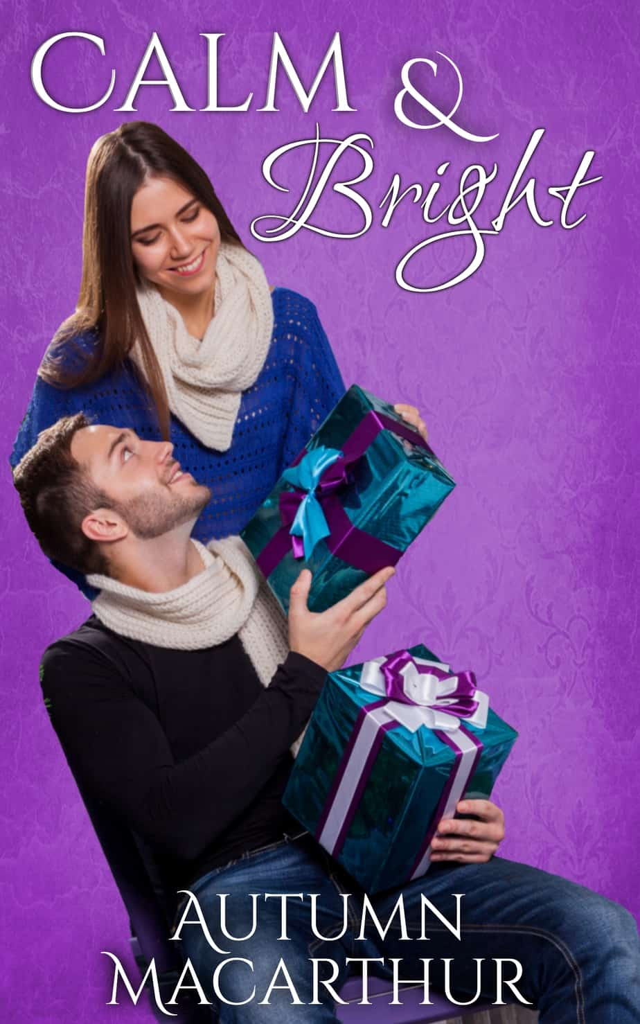 Cover image for sweet and clean Idaho set Christmas romance novella, Calm & Bright, by Christian author Autumn Macarthur